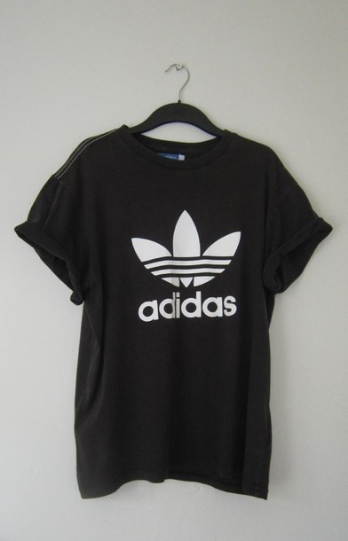 shirt adidas black menswear black t-shirt