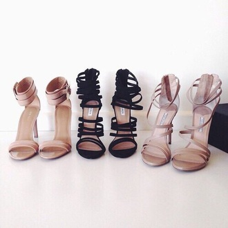 shoes high heels nude heels heels black nude high heel sandals prom strapped heels sexy summer beige formal luxe luxury glamour designer cute high heels cream tumblr gold straps money bitch dope clothes bad bitches link up