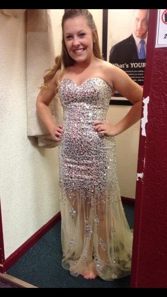 dress prom silver prom dress long prom dress silver dress sparkly dress sparkle dress style rhinestone dress