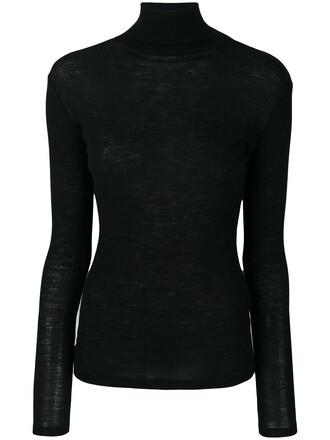 sweater women turtle black wool