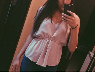 blouse pink fancy cute pretty cute shirt cute top tank top silk string