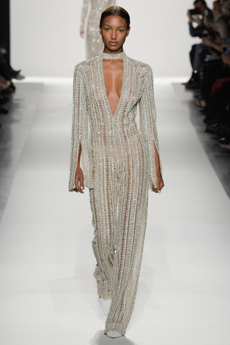 jumpsuit jonathan simkhai runway model ny fashion week 2017 fashion week 2017 keyhole dress jasmine tookes pants top gown nyfw 2017