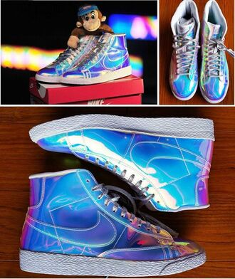 shoes cool nike nike sneakers sneakers holographic shoes holographic