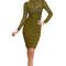 Carmen dress in olive – noodz boutique