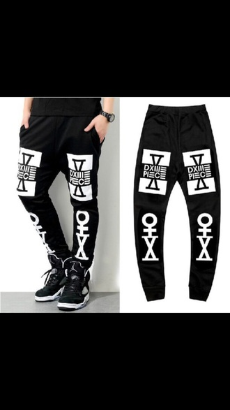 pants joggers black pants