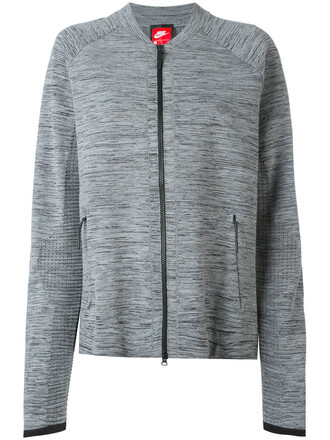 jacket women cotton knit grey