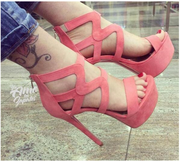 shoes pink high heels cute cute high heels spring wave suede shoes pink by victorias secret