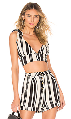 MAJORELLE Carisma Top in Black Stripe from Revolve.com
