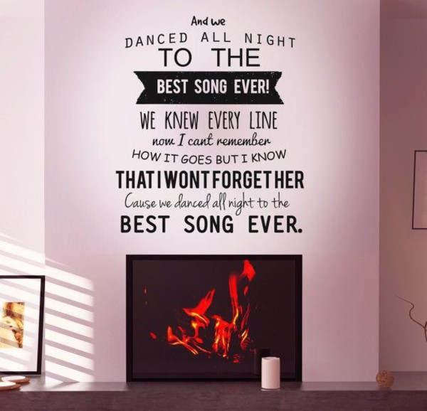 top one direction lyrics home decor stickers home stickers wall decor
