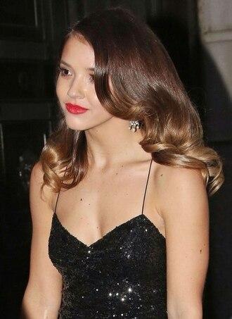 hair accessory earrings black dress dress