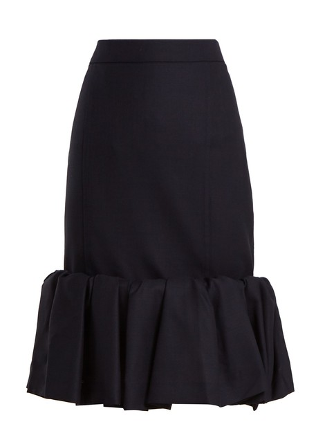 skirt wool navy
