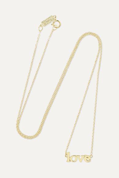 Jennifer Meyer - Love 18-karat Gold Necklace - Love 18-karat Gold Necklace