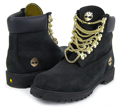Chain timberland boots
