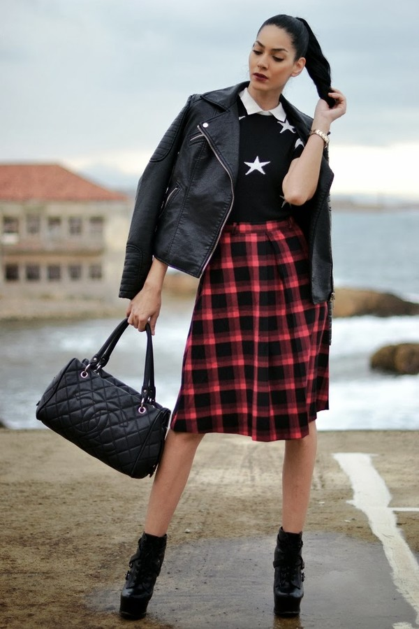 serial klother blouse skirt shoes bag