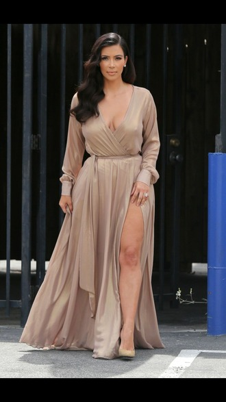 dress curvy nude dress