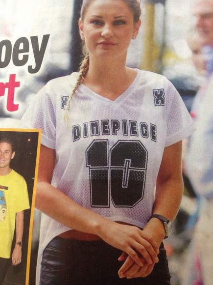 celebrity top sam faiers basketball jersey dimepiece cropped top trend
