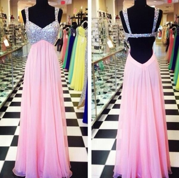 dress diamonds pink dress glitter dress sparkly dress cutout rhinestones