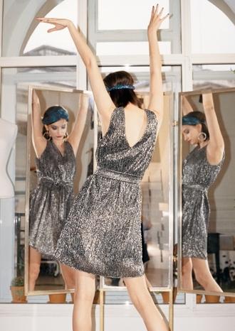 dress silver dress short dress club dress headband party dress & other stories