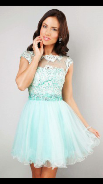 dress teal lace dress