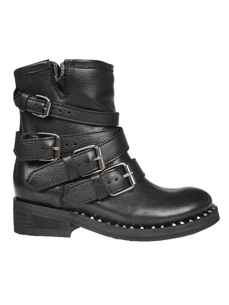 ASH biker boots strappy black shoes