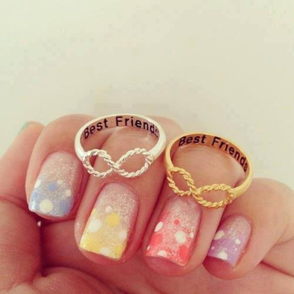 Girlsluv It Twisted Infinity Best Friends Ring 2 Colors