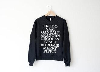 blouse jumper clothes movies lotr hobbits wizard human elves dwarf black