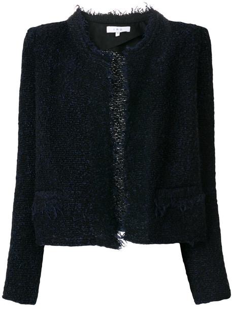 Iro jacket women cotton blue wool