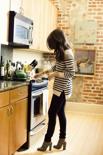 sweater tunic striped sweater black and white stripes