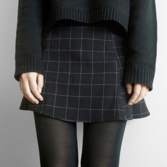 skirt grid tumblr grunge pale pale grunge shirt