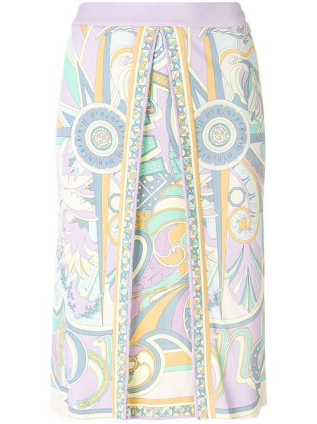 skirt printed skirt women silk