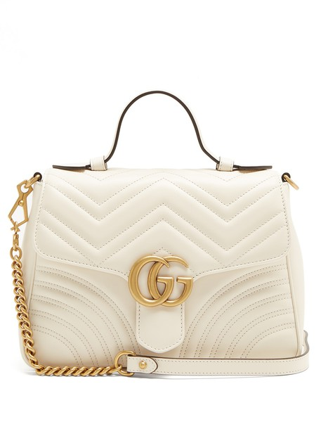 quilted bag leather white
