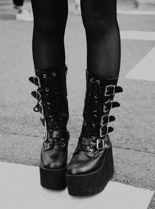 Shoes Goth Punk Emo Scene Grunge Goth Boots Boots