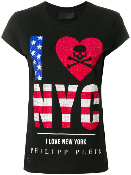 Philipp Plein - NYC T-shirt - women - Cotton - XS, Black, Cotton