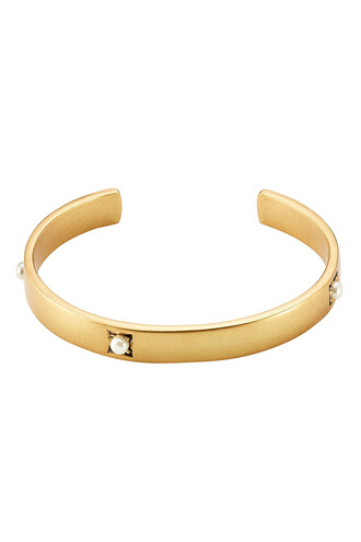 cuff pearl cuff bracelet gold jewels