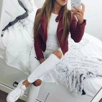 coat shirt shorts shoes girly make-up style fashion toast