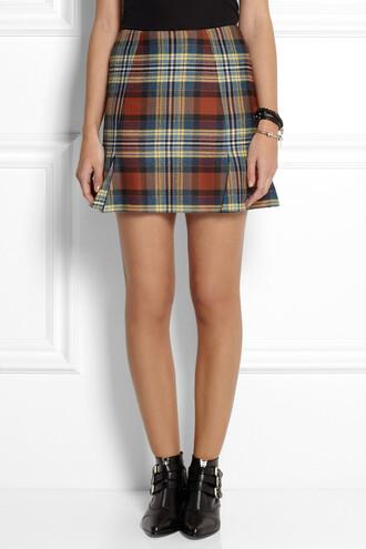 skirt mini skirt rocket tartan mini skirt tartan tartan skirt vivienne westwood anglomania vivienne westwood