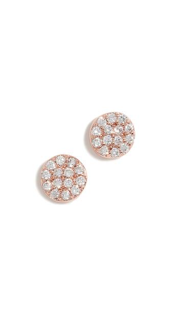 Gorjana Pristine Shimmer Stud Earrings in gold / rose