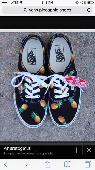 shoes black pineapple vans