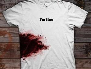 I'm Fine Wounded T-Shirt - Neat Shtuff | Neat Shtuff