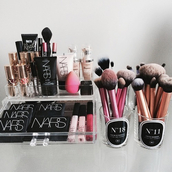 make-up,makeup brushes,nars cosmetics,home accessory,beauty organizer