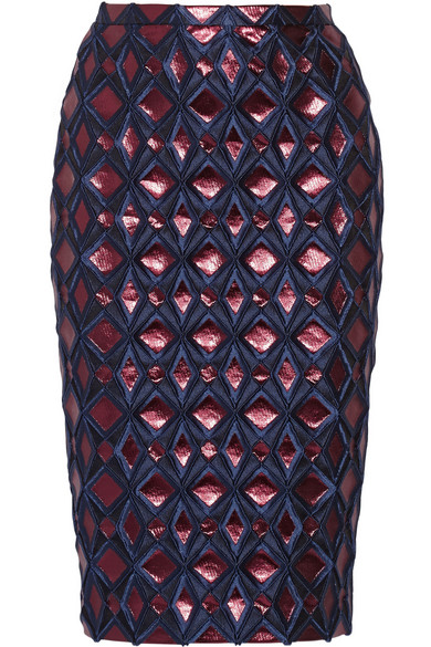 Burberry Prorsum | Metallic brocade pencil skirt | NET-A-PORTER.COM