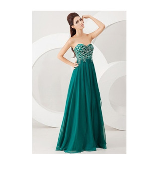 prom dress girl prom green peacock nice long peacock dress long dress