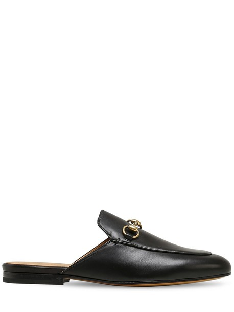 GUCCI 10mm Princetown Leather Mules in black