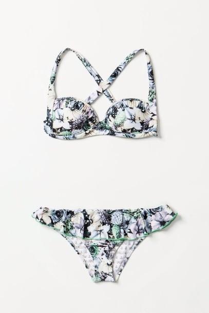 swimwear floral cute bikini bikini cute flowers girly summer