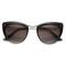 Women's elegant cat eye sunglasses with metal temples 9802