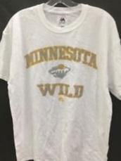 shirt,white,minnesota wild,yellow,grey,majestic