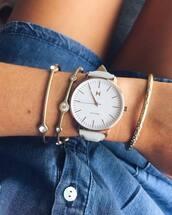 jewels,mvmt watches,mvmt,watch,white watch,leather watch,bracelets,jewelry,accessories,Accessory,stacked bracelets,stacked jewelry