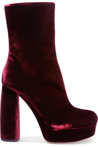 boots ankle boots leather velvet shoes