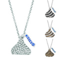 Base Metal Hershey's Kiss Necklace | Overstock.com Shopping - The Best Deals on Crystal, Glass & Bead