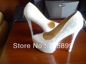 2014 Red bottom shoes Daffodile diamond platform pump bridal shoes Sliver Crystal High Heels Best Quality Brand Shoes -in Pumps from Shoes on Aliexpress.com